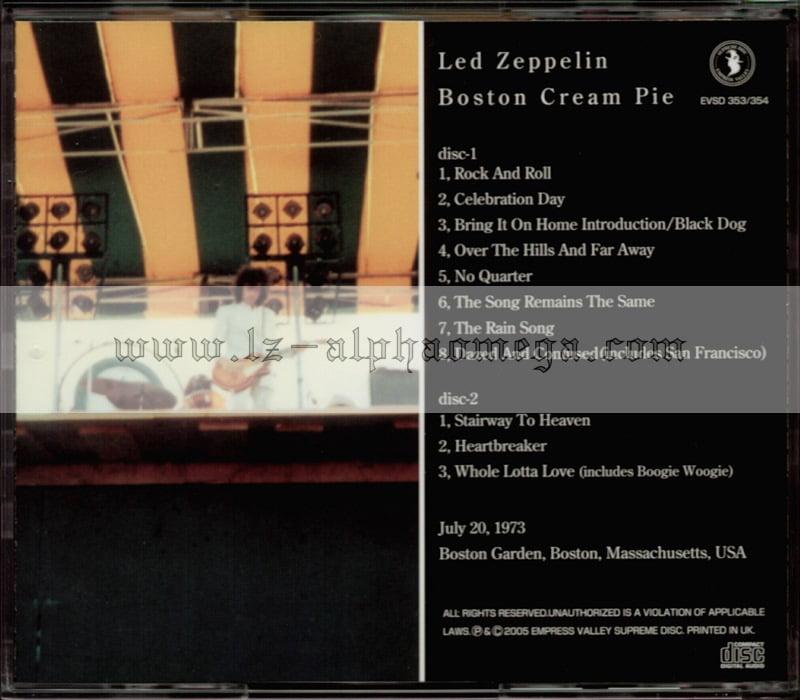Led Zeppelin Live - Boston Cream Pie