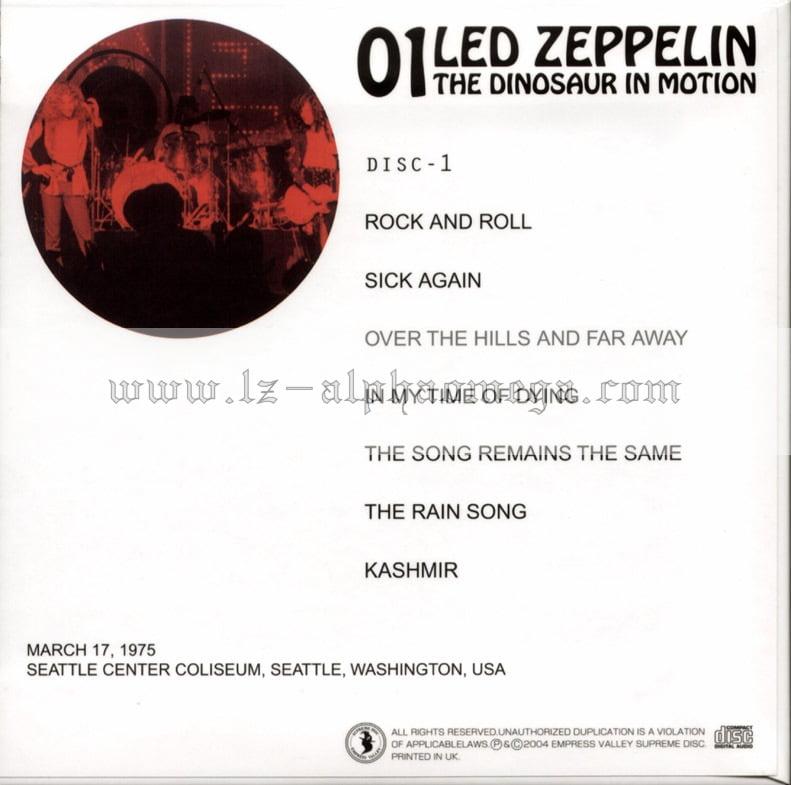 Led Zeppelin Live - The Dinosaur In Motion