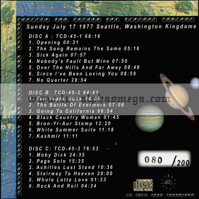 Led Zeppelin Live - Jupiter And Saturn